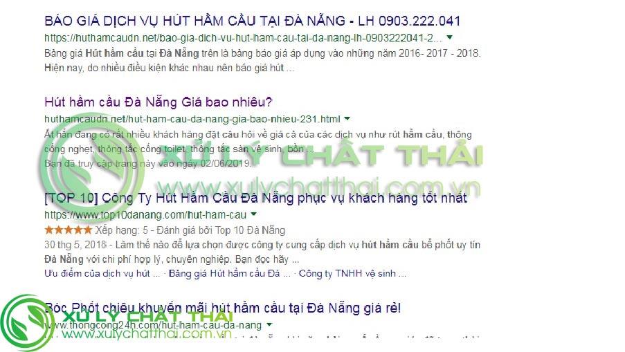 Các đơn vị hút hầm cầu uy tín nhất Đà Nẵng