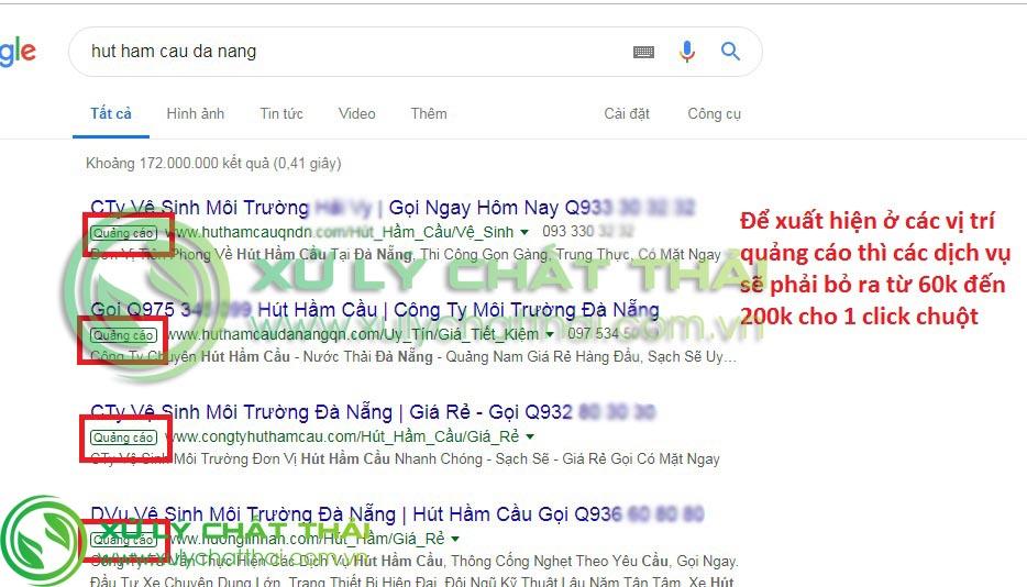 Các dịch vụ hút hầm cầu Đà Nẵng làm ăn chụp giựt