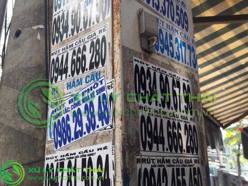 dán quảng cáo hút hầm cầu Đà Nẵng