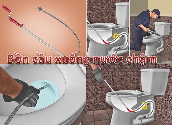 cách xử lý bồn cầu rút nước chậm