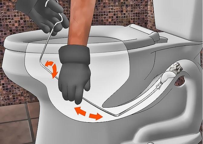 xử lý bồn cầu rút nước chậm bằng dây cáp