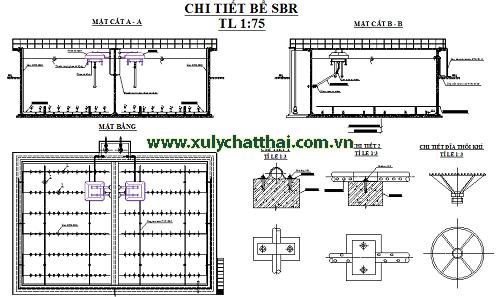 Bản vẽ thiết kế bể SBR