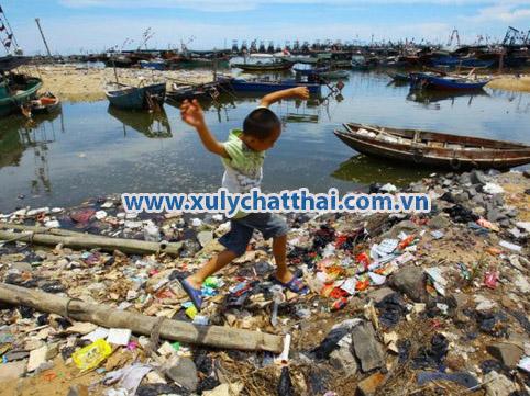 hoạt động con người gây ô nhiễm biển
