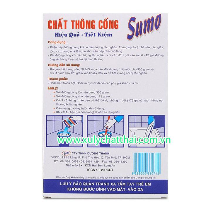 Hướng dẫn sử dụng bột thông cống sumo
