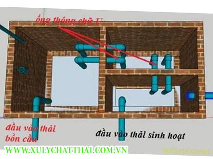cách đặt ống bể phốt
