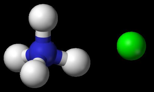 Công thức cấu tạo Amoni Clorua